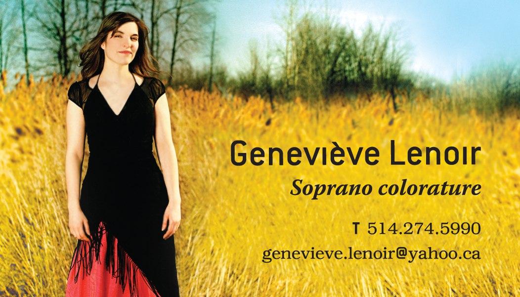 École de Chant Classique Genevieve Lenoir