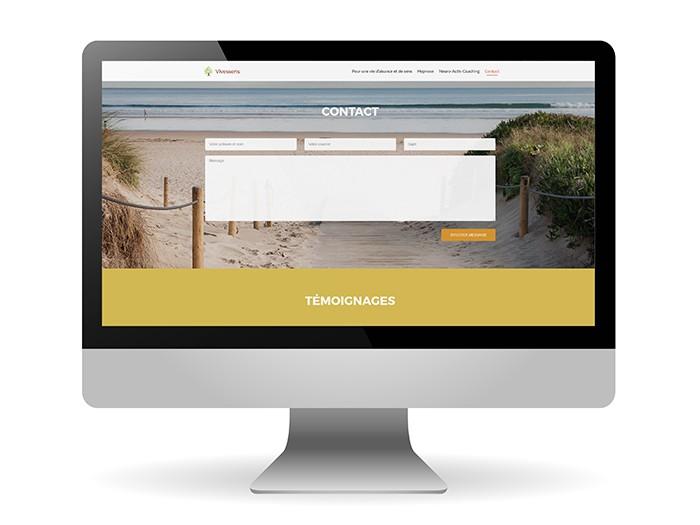 Website in a computer screen