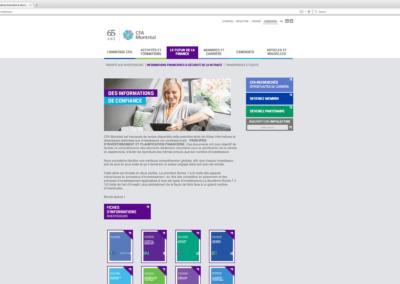 Website of CFA Montreal
